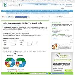 Indice de masse corporelle (IMC) et tour de taille