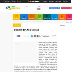 Índices Inflacionários - Brasil Escola