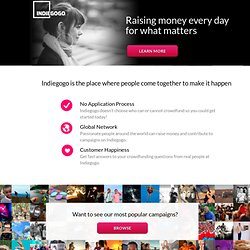 The First & Largest Global Crowdfunding Site