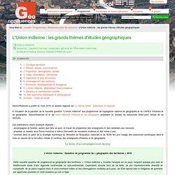 Bibliographie de Géoconfluences- Union indienne