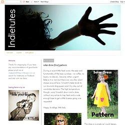 indietutes: solar dress (free) pattern