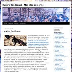 Maxime Tandonnet – Mon blog personnel