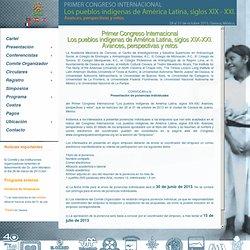 Congreso de pueblos indigenas - Convocatoria ponencias libres