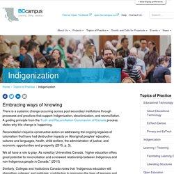 Indigenization – BCcampus