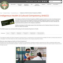 ACEM - Indigenous Health & Cultural Competency (IH&CC)