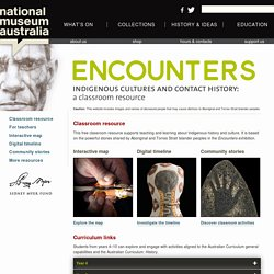 Indigenous cultures and contact history