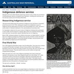 Indigenous defence service