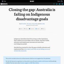Closing the gap: Australia is failing on Indigenous disadvantage goals