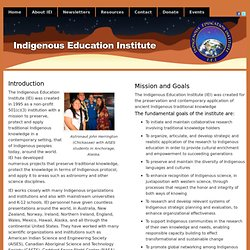 Indigenous Education Institute