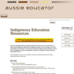 Indigenous Education Resources