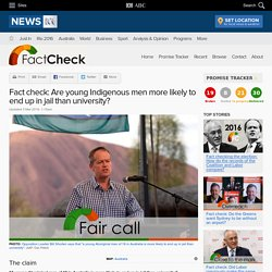 Fact check: Are young Indigenous men more likely to end up in jail than university? - Fact Check