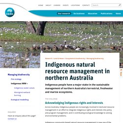 Indigenous natural resource management in northern Australia - CSIRO