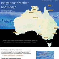 Indigenous Weather Knowledge - Bureau of Meteorology