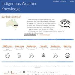 Banbai calendar - Indigenous Weather Knowledge - Bureau of Meteorology