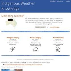 Miriwoong calendar - Indigenous Weather Knowledge - Bureau of Meteorology