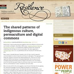 The shared patterns of indigenous culture, permaculture and digital commons