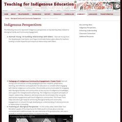 Teaching for Indigenous Education