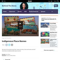 Indigenous Place Names - Classroom - BTN