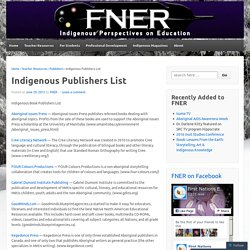 Indigenous Publishers List