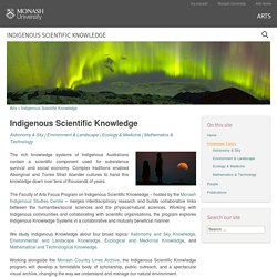 Indigenous Scientific Knowledge (use the 4 links to the four broad topics)