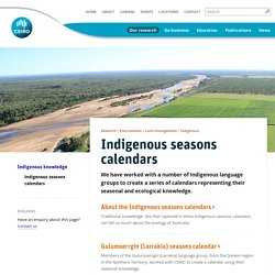 Indigenous seasons calendars