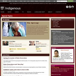 ABC Online Indigenous - Special Topics - The Apology