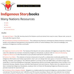 Many Nations Resources - Indigenous Storybooks