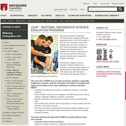 LEAP - National Indigenous Science Education Program