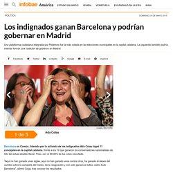Los indignados ganan Barcelona y podrían gobernar en Madrid