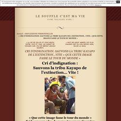 Info 7 : Sauvons la tribu Kayapo