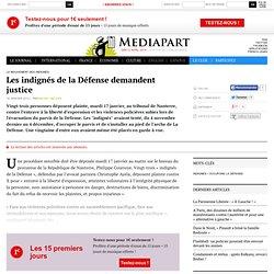 Les indignés de la Défense demandent justice