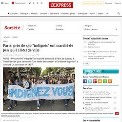 """Paris: près de 450 """"indignés"""" ont marché de Jussieu à Hôtel de ville"""