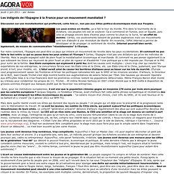 Les indignés de l'Espagne à la France pour un mouvement mondialisé?