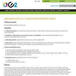 Indikátor ECI B.9 - Udržitelné využívání území
