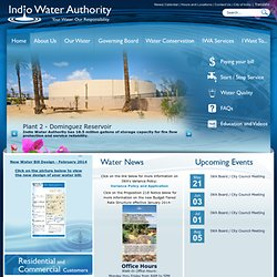 Indio Water Authority : Indio Water Authority Home