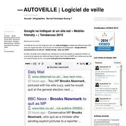 Google va indiquer si un site est «Mobile-friendly