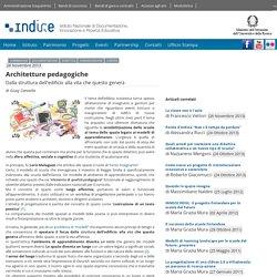 Indire. Architetture pedagogiche