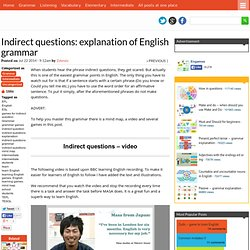 Indirect questions: explanation of English grammar