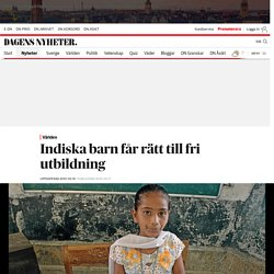 Indiska barn får rätt till fri utbildning