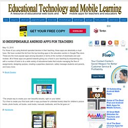 10 Indispensable Android Apps for Teachers