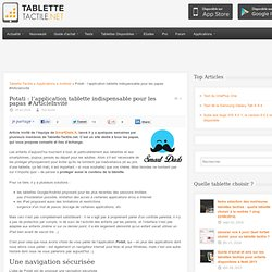 Potati : l'application tablette indispensable pour les papas #ArticleInvité