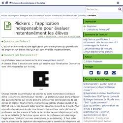 Plickers, l'application indispensable pour évaluer instantanément les élèves- Sciences Economiques et Sociales