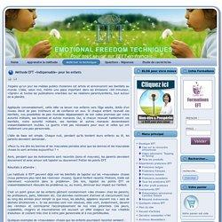 Méthode EFT «indispensable» pour les enfants