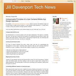 Jill Davenport Tech News: Indispensable Principles of a User Centered Mobile App Design Approach