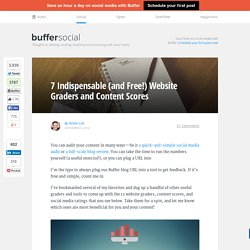 7 Indispensable (and Free!) Website Graders