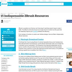 15 Indispensable ZBrush Resources