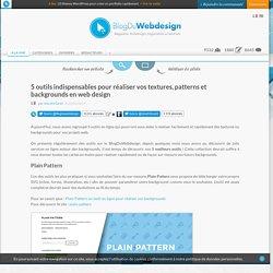 5 outils indispensables pour réaliser vos textures, patterns et backgrounds en web design