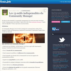Les 13 outils indispensables du Community Manager | Remixjobs blog