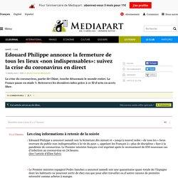 Edouard Philippe annonce la fermeture de tous les lieux «non indispensables»: suivez la crise du coronavirus en direct