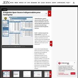 15 logiciels Open Source indispensables - Sélection sur Journal du Net Solutions